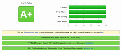 High (A+) TLS test results